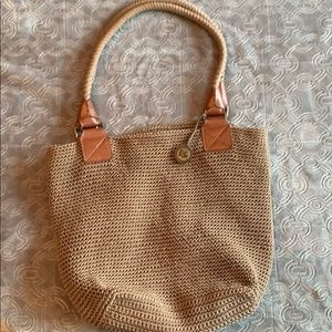 The Sak Boho Crochet braided shoulder bag purse